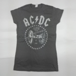 AC/DC 官方进口原版女款 For Those About To Rock(TS-S)灰色