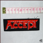 ACCEPT - Logo (Embroidered Patch)