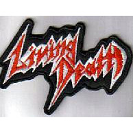 LIVING DEATH - Logo (Embroidered Patch)