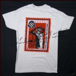 RAGE AGAINST THE MACHINE 官方进口原版  Silver Postage Stamp 浅灰色 (LS-L)