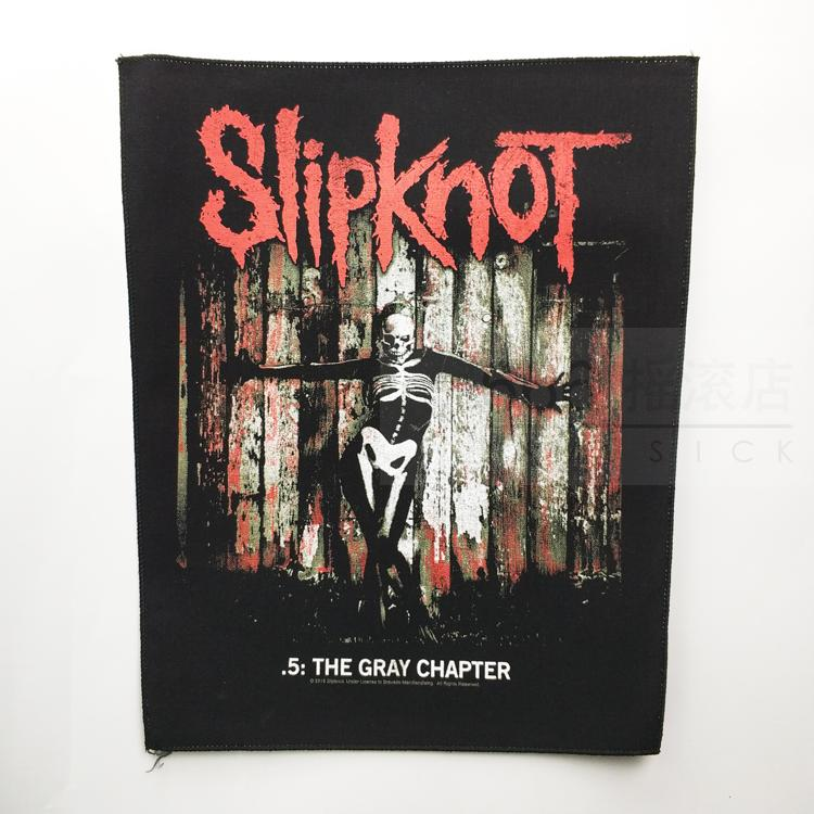 活结 (SLIPKNOT) 官方进口原版 .5:The Gray Chapter 背标 (Back Patch)