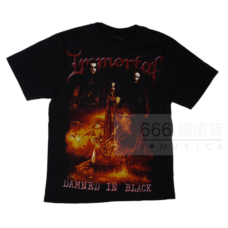 IMMORTAL - Damned in Black (TS-L) TTH1604