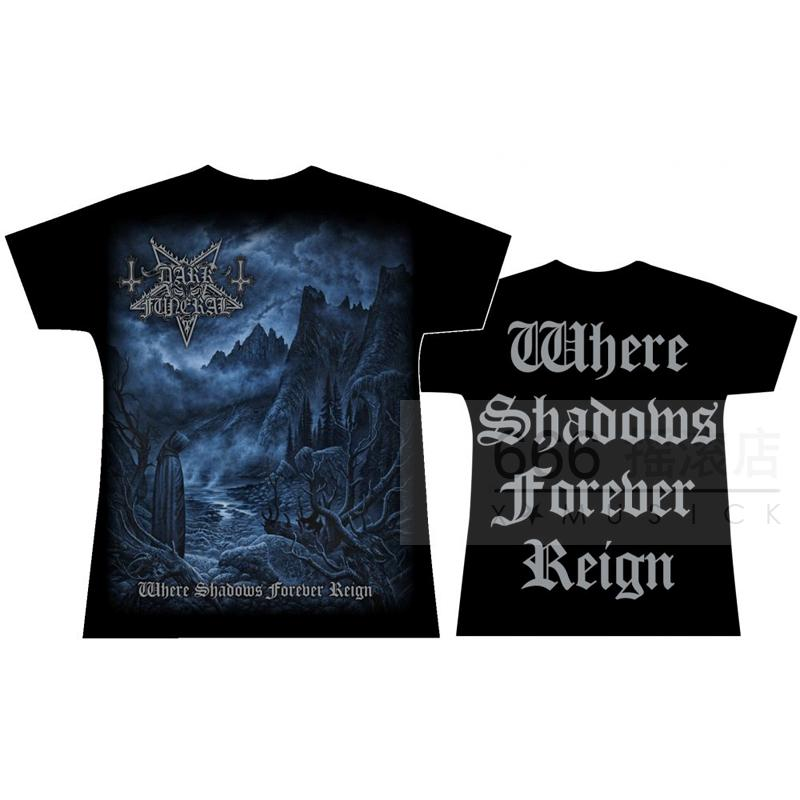DARK FUNERAL 官方进口原版女款 Where Shadows Forever Reign (TS-L/XL)新