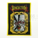 BENEDICTION 进口官方原版 Broken Face (Woven Patch) 黄边