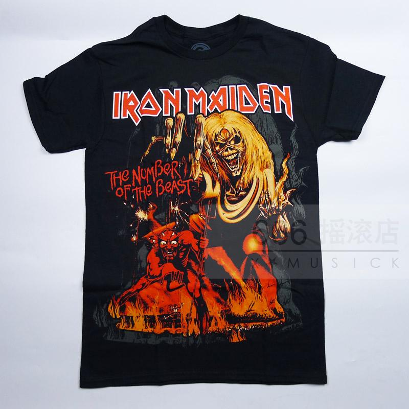 IRON MAIDEN 官方进口原版 Number of the Beast新 (TS-M)