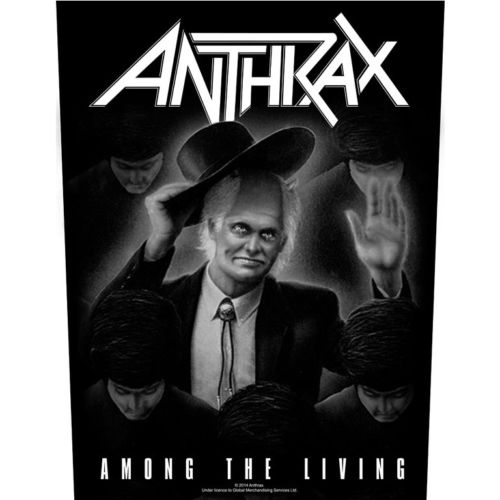 炭疽 (ANTHRAX) 官方进口原版背标 Among the Living (Back Patch)