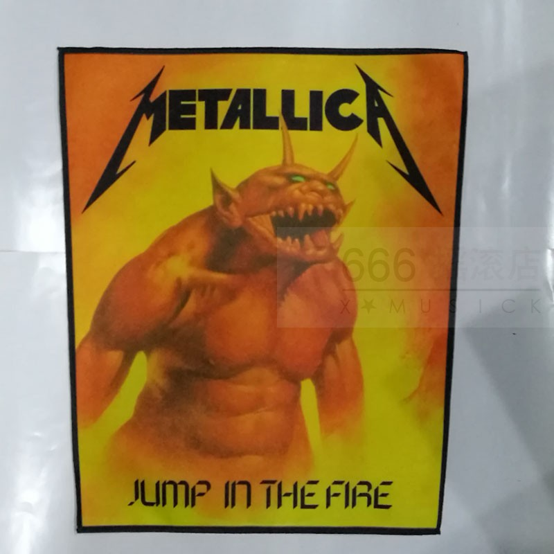 金属乐队 (METALLICA) 进口印制背标 Jump Into Fire (Back Patch)