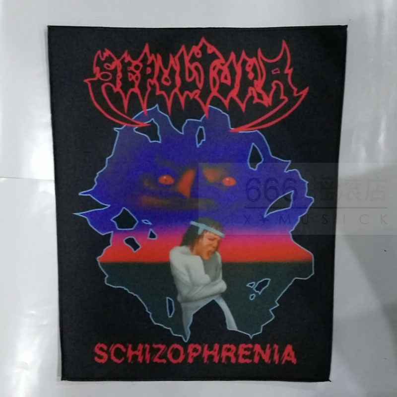 埋葬 (SEPULTURA) 进口印制背标 Schizophrenia (Back Patch)