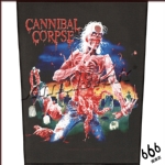 食人尸(CANNIBAL CORPSE) 官方进口原版 Eaten Back To Life (Back Patch)