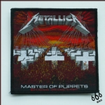 METALLICA 官方进口原版 Master Of Puppets (Woven Patch)