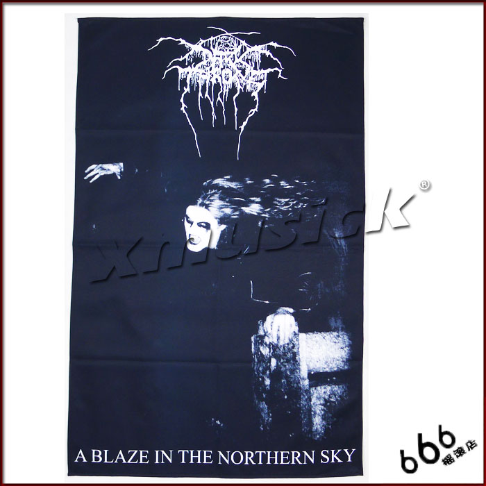 DARKTHRONE 官方正版出品 A Blaze In The Northern Sky 挂旗 海报(加厚)