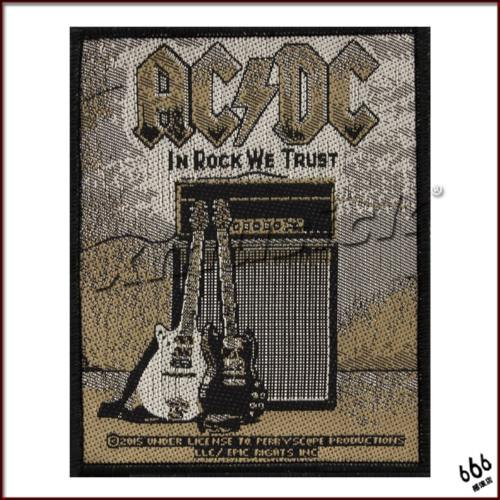 AC/DC 官方进口原版 In Rock We Trust (Woven Patch) 16新款