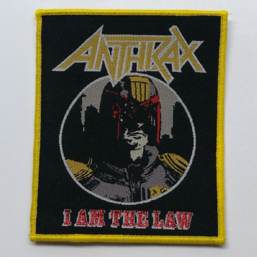 ANTHRAX 美国进口原版 I Am The Law (Woven Patch)
