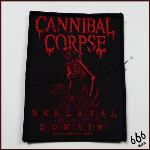 CANNIBAL CORPSE 官方进口原版 A Skeletal Domain (Woven Patch)