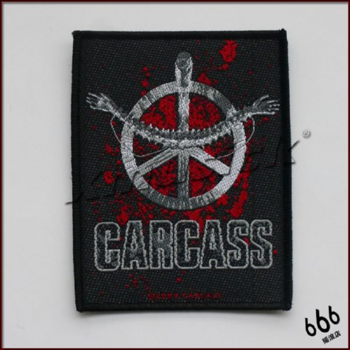 CARCASS 官方进口原版 Hearwork (Woven Patch)