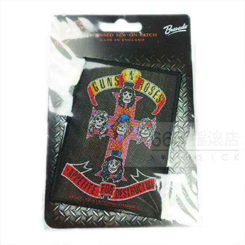 GUNS N ROSES 官方进口原版 Appetite of Destruction (Woven Patch)