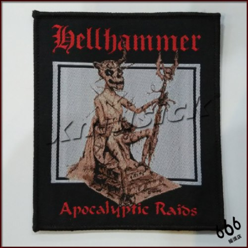 HELLHAMMER 官方进口原版 Apocalyptic Raids (Woven Patch)