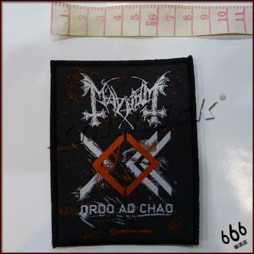 MAYHEM 官方进口原版 Ordo Ad Chao (Woven Patch)