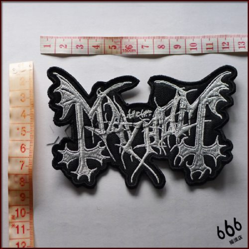 MAYHEM - Logo 异形 (Embroidered Patch)