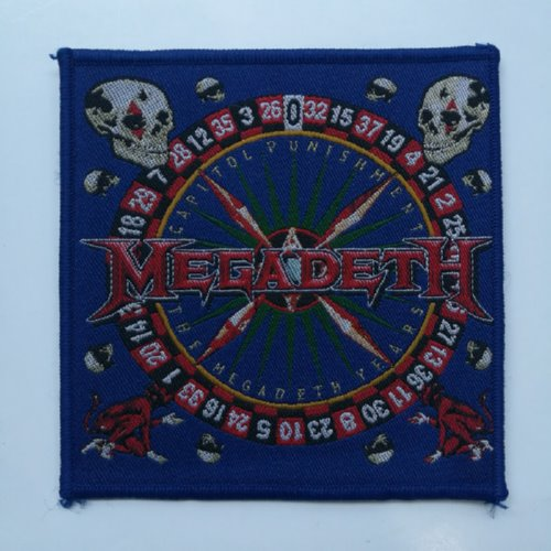 MEGADETH 官方进口原版 Capital Punishment 蓝边 (Woven Patch)