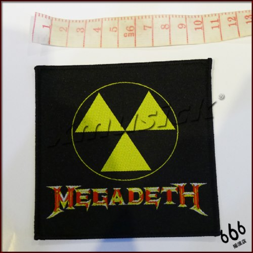 MEGADETH 进口 Nuclear Logo (Woven Patch)