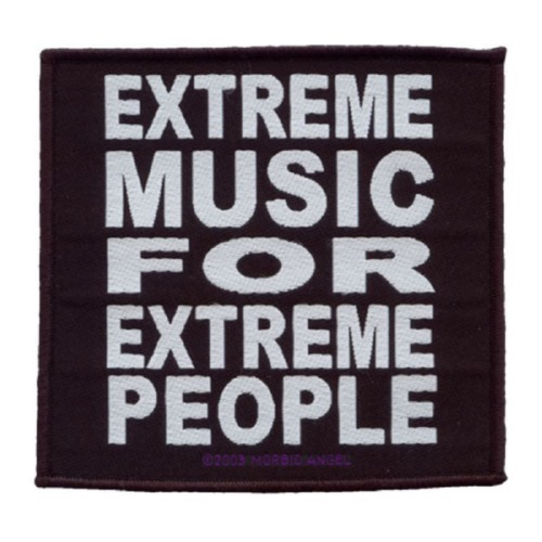 MORBID ANGEL 官方进口原版 Extreme Music For Extreme People (Woven Patc