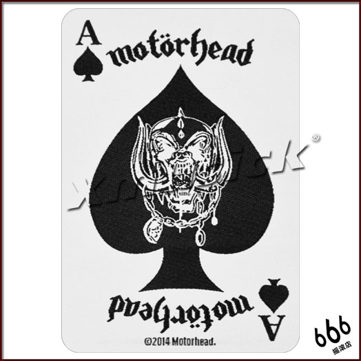 MOTORHEAD 官方进口原版 Black Ace (Woven Patch)
