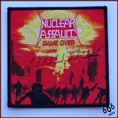 NUCLEAR ASSAULT 进口布标 Game Over (Woven Patch)