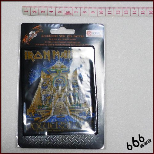 IRON MAIDEN 官方进口原版 Powerslave (Woven Patch)