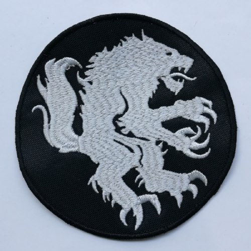 SATANIC WARMASTER - Lion Logo 圆形 (Embroidered Patch)