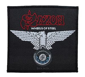 SAXON 官方进口原版 Wheels of Steel (Woven Patch)