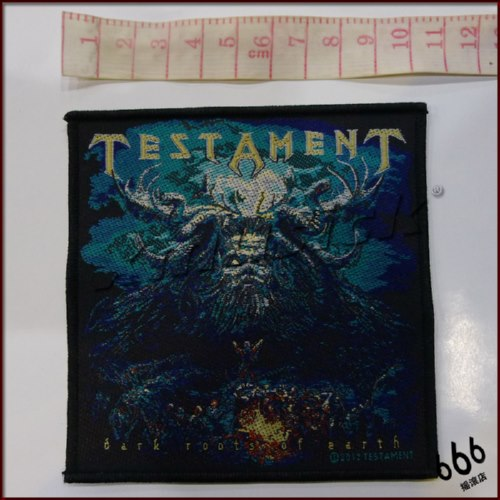 TESTAMENT 官方进口原版 Dark Roots Of Earth (Woven Patch)