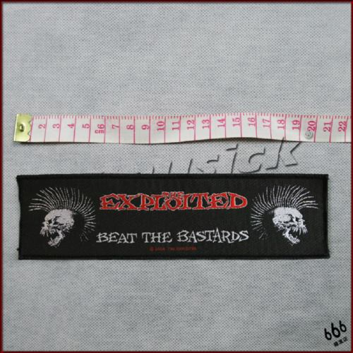 EXPLOITED, THE 官方进口原版 Beat The Bastards 加长 (Woven Patch)