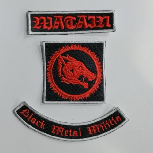 WATAIN - Black Metal Militia 三件套 (Embroidered Patch)