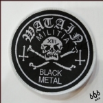 WATAIN 官方进口原版 Militia Black Metal (Woven Patch)