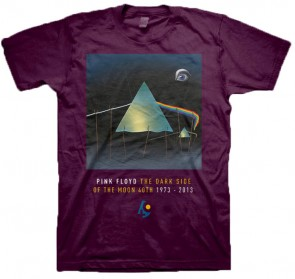 PINK FLOYD 官方进口原版 Dark Size Of The Moon (TS-S) 紫色