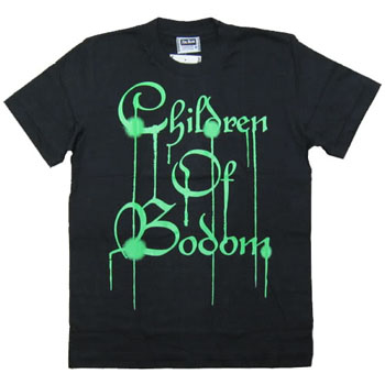 CHILDREN OF BODOM - Green Logo (TS-S) TTR1410