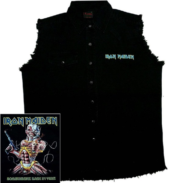 IRON MAIDEN 官方进口原版 工作马夹 Somewhere Back In Time (TS-L)
